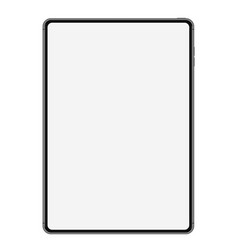 new tablet drawing isolated on white background vector image