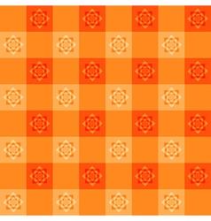 Orange Flower Chessboard Background vector