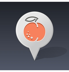 Peach pin map icon Fruit vector