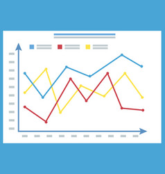 presentation infochart graph on board vector image