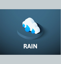 rain isometric icon isolated on color background vector image