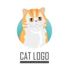 Red Exotic Cat Flat Design vector image vector image