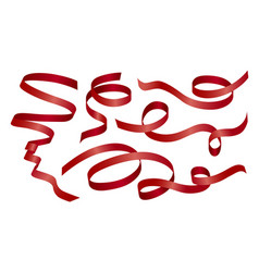 red ribbon on white background vector image