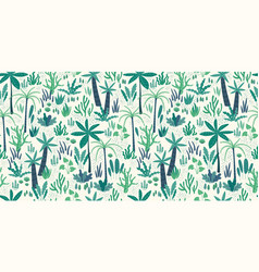 seamless pattern with abstract tropical plants vector image