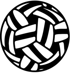 Sepak takraw icon isolated on white background vector