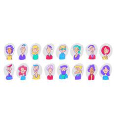 Set different person portrait diverse business vector