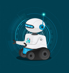 smart scifi robot with artificial intelligence vector image
