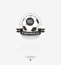 Soccer and football emblem logo badge with ribbon vector