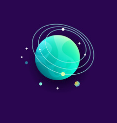 Space planet for universe or cosmos astronomy vector