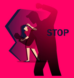 stop bulling and oppression women vector image