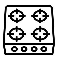Stove icon outline style vector