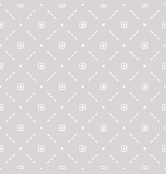 Subtle seamless pattern with delicate square grid vector