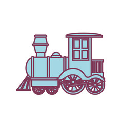 Train kids toy isolated icon vector