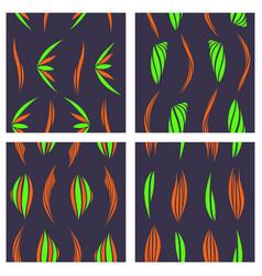 Tribal background ethnic pattern set boho vector