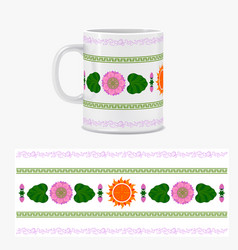 Typography colored ornament for design mugs vector