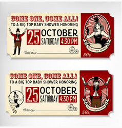 Vintage Circus Ticket vector
