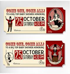 Vintage circus ticket vector