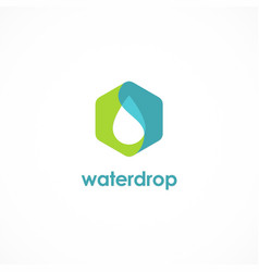 water drop icon logo vector image