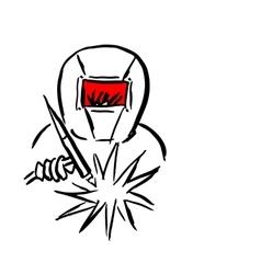 Welder sketch for your design vector