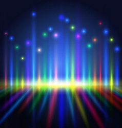 abstract color light lines vector image