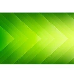 Abstract green eco arrows background vector image vector image