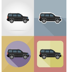 transport flat icons 06 vector image vector image