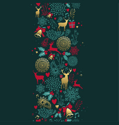 christmas gold deer decoration seamless pattern vector image vector image