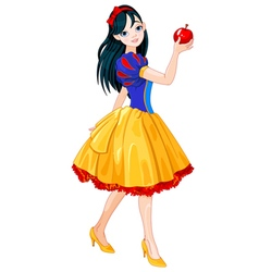 Snow White Girl vector image