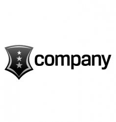 strong shield logo vector image vector image
