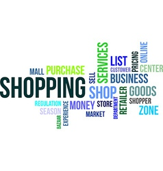 word cloud shopping vector image