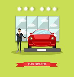 Car dealer concept in flat vector