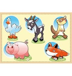 Farm Baby Animals vector image vector image