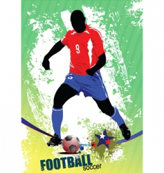 football poster vector image