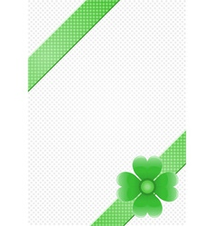 gray background with green stripes and a flower vector image vector image