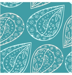 Paisley ethnic seamless pattern vector image vector image