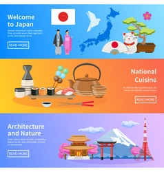 1608i124022Sm004c11japan flat banners vector image vector image