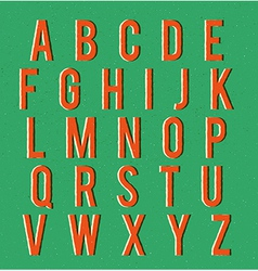 Multiplied retro alphabet vector image vector image