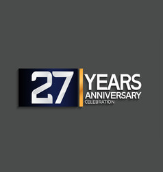 27 years anniversary logotype with blue vector