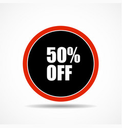 50 percent off sale label symbol in circle shape vector image