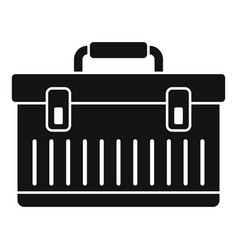 Aircraft repair tool box icon simple style vector
