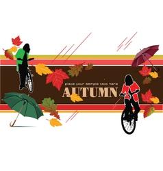 autumn banner vector image