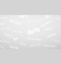 background on discounts and special offers vector image
