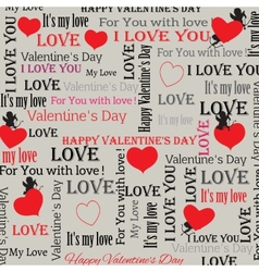 background to the Valentines Day in vintage style vector image