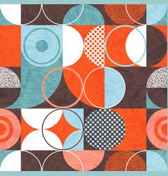 bauhaus seamless abstract modern pattern vector image