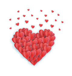 big valentine s heart decorative heart background vector image