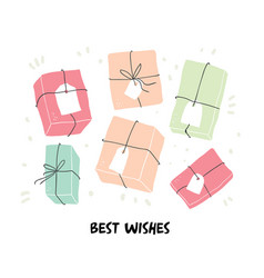 birthday with gifts isolated vector image