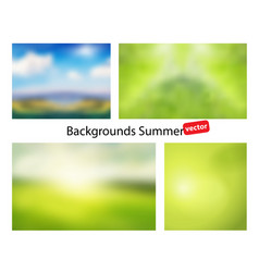 Blur summer abstract background vector