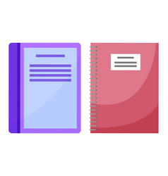 books with information textbooks in school set vector image