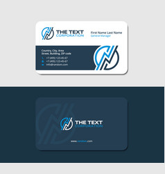 business card with a thunderstorm vector image