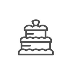 cake line icon vector image